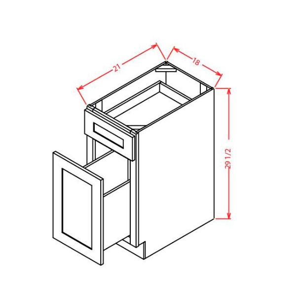 """Shaker White Drawer File Base 18""""W X 21""""D X 29-1/2""""H"""