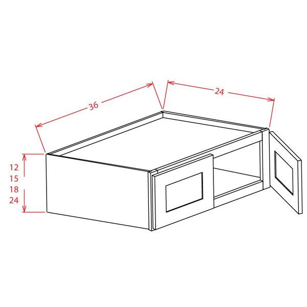 "Charleston Saddle Wall Refrigerator Cabinets 36""W X 15""H X"