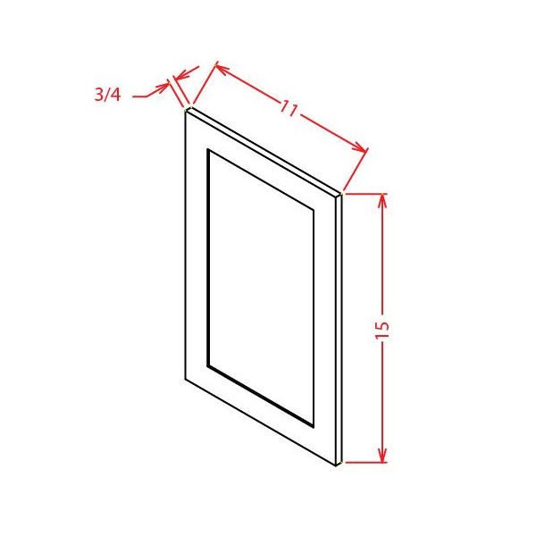 "Shaker White Sample Door 12-7/8""W X 15-7/8""H"