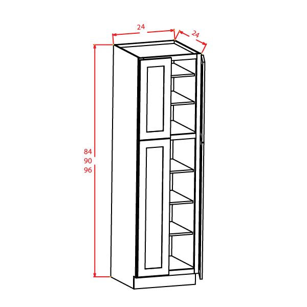 """Shaker Cinder Utility Cabinets 24""""W X 24""""D X 96""""H"""